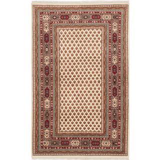 Ecarpetgallery Hand-knotted Sarough Beige Wool Rug (4' x 6'5)