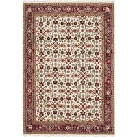 Ecarpetgallery Hand-knotted Royal Mahal Beige Wool Rug (5'5 x 7'10)