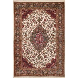 Ecarpetgallery Hand-knotted Royal Sarough Beige Wool Rug (6'8 x 10')