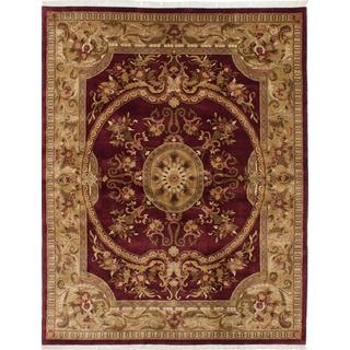 Ecarpetgallery Hand-knotted Royal Safaviah Red Wool Rug (7'9 x 10'1)