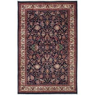 Ecarpetgallery Hand-knotted Royal Kashan Blue Wool Rug (6' x 9')