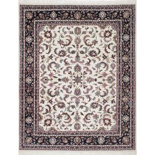 Ecarpetgallery Hand-knotted Royal Mahal Beige Wool Rug (8' x 10'2)