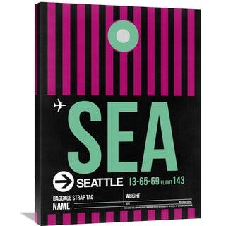 Naxart Studio 'SEA Seattle Luggage Tag 2' Stretched Canvas Wall Art
