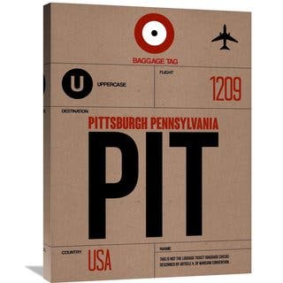Naxart Studio 'PIT Pittsburgh Luggage Tag 1' Stretched Canvas Wall Art