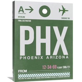 Naxart Studio 'PHX Phoenix Luggage Tag 1' Stretched Canvas Wall Art