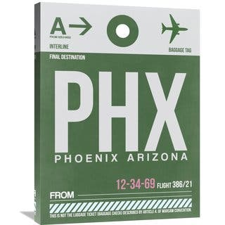 Naxart Studio 'PHX Phoenix Luggage Tag 1' Stretched Canvas Wall Art