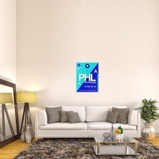 Naxart Studio 'PHL Philadelphia Luggage Tag 1' Stretched Canvas Wall Art