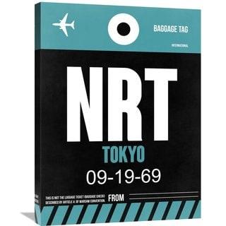 Naxart Studio 'NRT Tokyo Luggage Tag 2' Stretched Canvas Wall Art