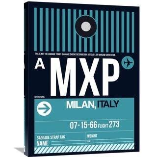 Naxart Studio 'MXP Milan Luggage Tag 2' Stretched Canvas Wall Art