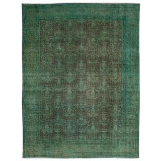 Ecarpetgallery Hand-knotted Persian Vogue Green Wool Rug (9'8 x 12'5)