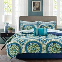 Clay Alder Home Prowers Blue Complete Coverlet and Cotton Sheet Set
