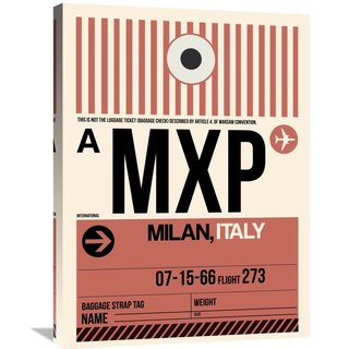 Naxart Studio 'MXP Milan Luggage Tag 1' Stretched Canvas Wall Art
