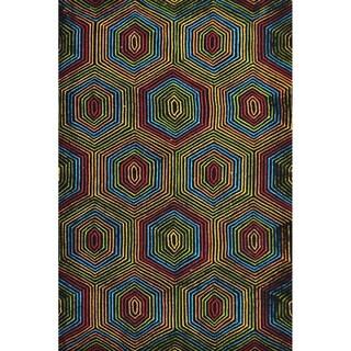 Hand-Hooked Coachella /Polyester Rug (5'X8')