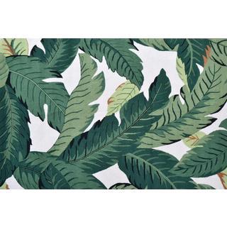 Hand-Hooked Barrigona Palm /Polyester Rug (5'X8')