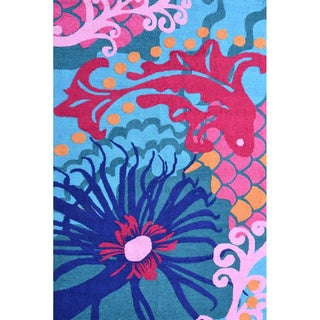 Hand-Hooked Fiji /Polyester Rug (5'X8')