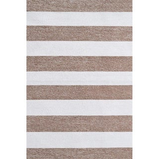 Hand-Hooked Stripends /Polyester Rug (5'X8')