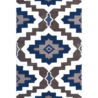 Hand-Hooked Rajah 1 /Polyester Rug (5'X8')