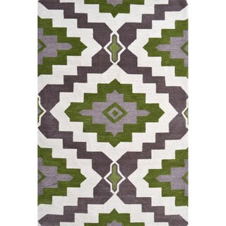 Hand-Hooked Rajah 2 /Polyester Rug (5'X8')
