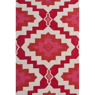 Hand-Hooked Rajah 3 /Polyester Rug (5'X8')