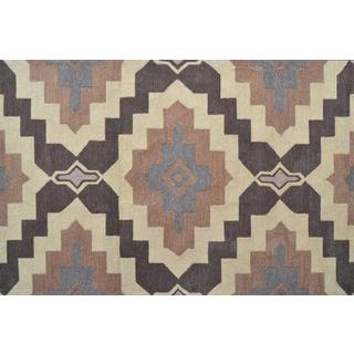 Hand-Hooked Rajah 4 /Polyester Rug (5'X8')
