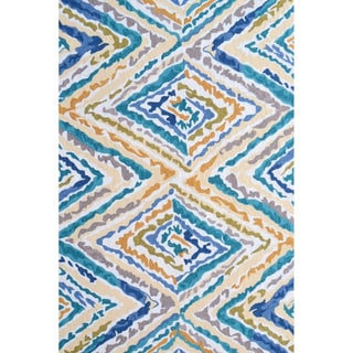 Hand-Hooked Winsor /Polyester Rug (5'X8')