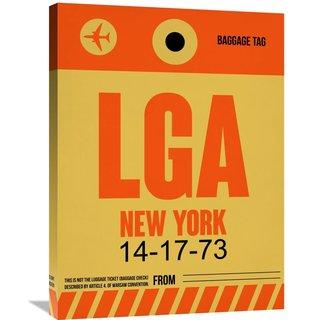 Naxart Studio 'LGA New York Luggage Tag 1' Stretched Canvas Wall Art