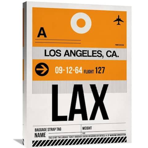 Naxart Studio 'LAX Los Angeles Luggage Tag 2' Stretched Canvas Wall Art