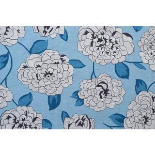Hand-Hooked Usuzumi /Polyester Rug (5'X8')