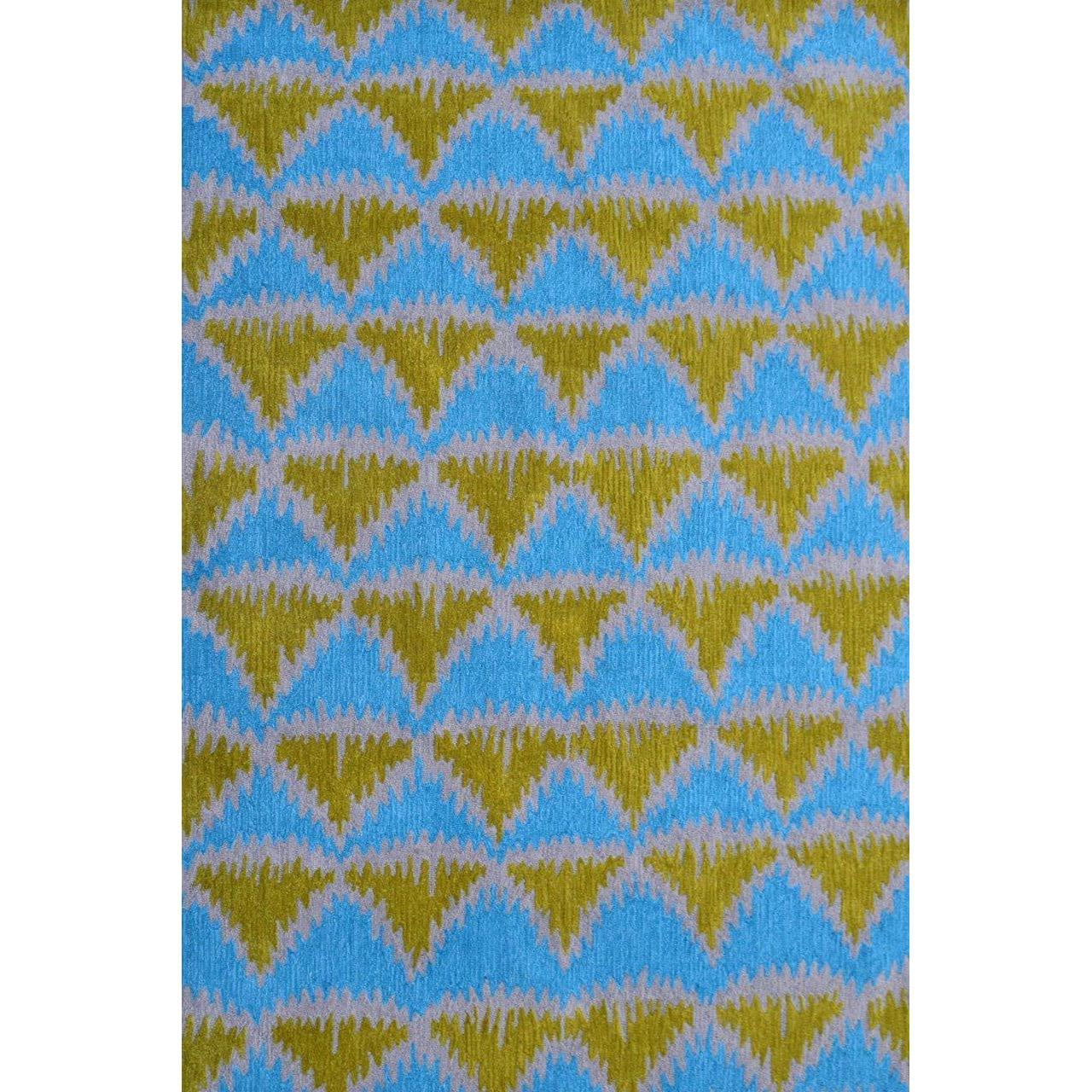 Rug Market Hand-Hooked Tropic Pyramid 1 /Polyester Rug (5...