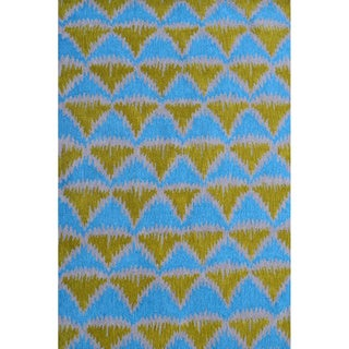 Hand-Hooked Tropic Pyramid 1 /Polyester Rug (5'X8')