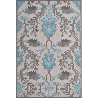 Hand-Hooked Susa /Polyester Rug (5'X8')