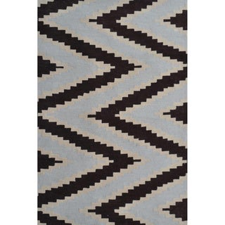 Hand-Hooked Serpentine 2 /Polyester Rug (5'X8')
