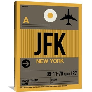 Naxart Studio 'JFK New York Luggage Tag 3' Stretched Canvas Wall Art