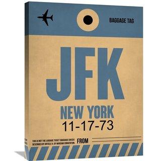 Naxart Studio 'JFK New York Luggage Tag 2' Stretched Canvas Wall Art