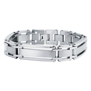 Boston Bay Diamonds Stainless Steel Men's 8.5 inch Bracelet