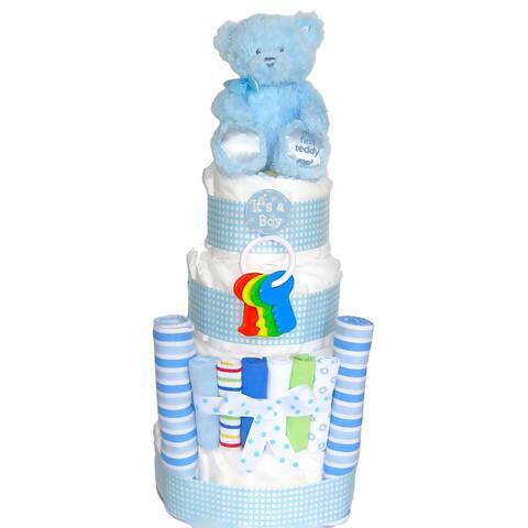 Its a Boy Baby Blues Diaper Cake - Blue