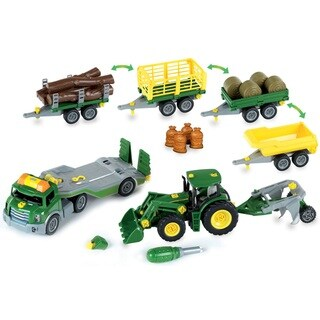 Theo Klein John Deere Mega Take A Part Set - Transporter, Tractor and Much More
