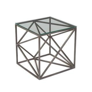 Hip Vintage Hanover Glass Side Table