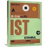 Naxart Studio 'IST Istanbul Luggage Tag 2' Stretched Canvas Wall Art
