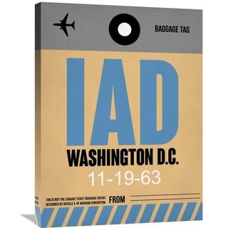 Naxart Studio 'IAD Washington Luggage Tag 1' Stretched Canvas Wall Art