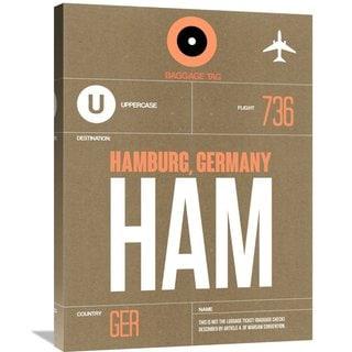 Naxart Studio 'HAM Hamburg Luggage Tag 2' Stretched Canvas Wall Art