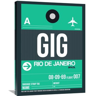 Naxart Studio 'GIG Rio De Janeiro Luggage Tag 1' Stretched Canvas Wall Art