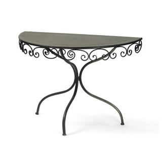 Hip Vintage Swirley Demilune Table