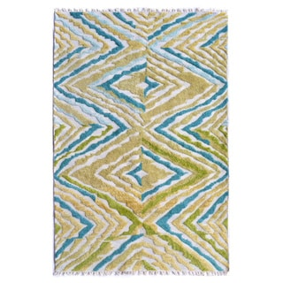 Hand-Knotted Andros /Polyester Rug (5'X8')