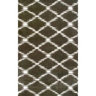 Hand-Tufted Repunzel Black /Wool Rug (5'X8')