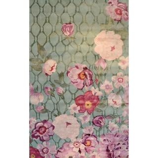 Hand-Woven Xanthe /Wool Rug (5'X8')