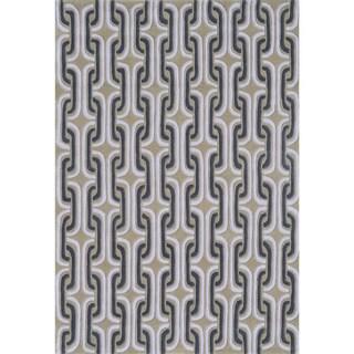 Hand-Tufted Palm Springs Black /Acrylic Rug (5'X7'6)