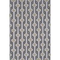 "Hand-Tufted Palm Springs Black /Acrylic Rug - 5' x 7'6"""
