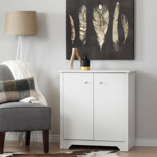 South Shore Vito Small White 2-Door Storage Cabinet