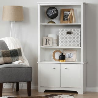 South Shore Vito 3-Shelf Bookcase with Doors|https://ak1.ostkcdn.com/images/products/11589510/P18529528.jpg?impolicy=medium